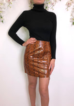Load image into Gallery viewer, Lexi burnt orange snake print skirt