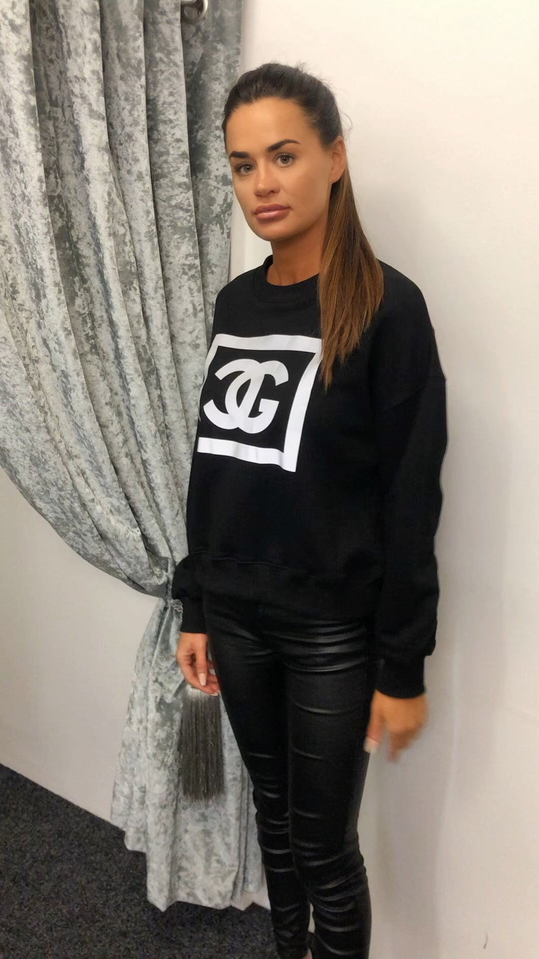 Black Chanel Sweatshirt