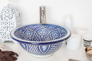 Handmade Washbasin 'Casablanca' - Medium - a Modern Medina