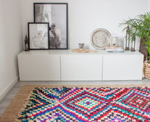 Load image into Gallery viewer, Vintage Boucherouite Rug 'Kaleidoscope'