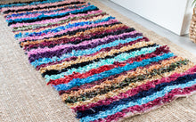 Load image into Gallery viewer, Vintage Boucherouite Rug 'Stripes'