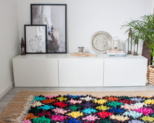 Load image into Gallery viewer, Vintage Boucherouite Rug 'Gemstones'