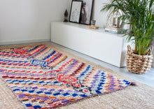 Load image into Gallery viewer, Vintage Boucherouite Rug 'Gypsy'