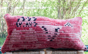Vintage Boujad Pillow 'I think in Pink'