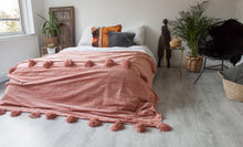 Load image into Gallery viewer, Deluxe Pompom Blanket 'Blush' - Large - a Modern Medina