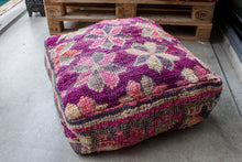 Load image into Gallery viewer, Boujaad Floor Pillow 'Flowers' - a Modern Medina