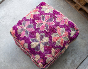 Boujaad Floor Pillow 'Flowers' - a Modern Medina