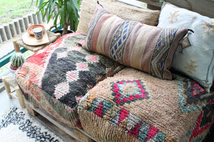 Vintage Boujad Floor Pillow 'Bold'
