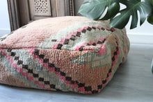 Load image into Gallery viewer, Vintage Boujad Floor Pillow 'Pastel'