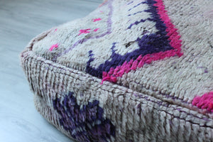 Vintage Boujad Floor Pillow 'Tourmaline'