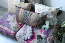 Load image into Gallery viewer, Vintage Boujad Floor Pillow 'Tourmaline'