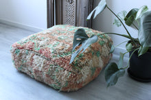 Load image into Gallery viewer, Vintage Boujad Floor Pillow 'Peridot'