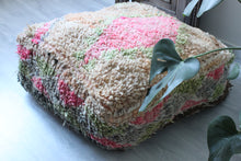 Load image into Gallery viewer, Vintage Boujad Floor Pillow 'Sapphire'
