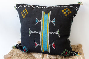 Cactus Silk Pillow 'Noir'