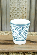 Load image into Gallery viewer, Coffee Cups - Set of two - Grey/Blue Pattern