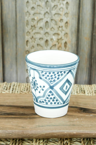 Coffee Cups - Set of two - Grey/Blue Pattern