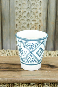 Coffee Cups - Set of two - Grey/Blue Pattern - a Modern Medina