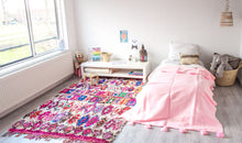 Load image into Gallery viewer, Kids Pompom Blanket - Pink - a Modern Medina