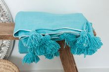 Load image into Gallery viewer, (Temporarily) Out of Stock - Kids Pompom Blanket 'Soft Blue'