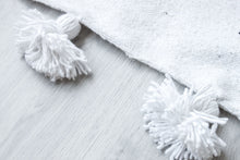 Load image into Gallery viewer, Kids Pompom Blanket 'White' - a Modern Medina