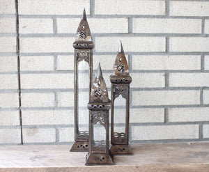 Lanterns 'Narrow' - Set of 3 pieces - a Modern Medina