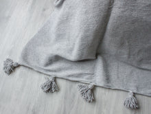 Load image into Gallery viewer, Pompom Blanket 'Grey' - a Modern Medina