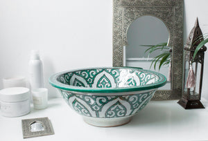 Handmade Washbasin 'Mediterranean Sea' - Medium - a Modern Medina