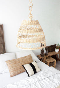 Wicker Pendant Shade 'Braids' - a Modern Medina