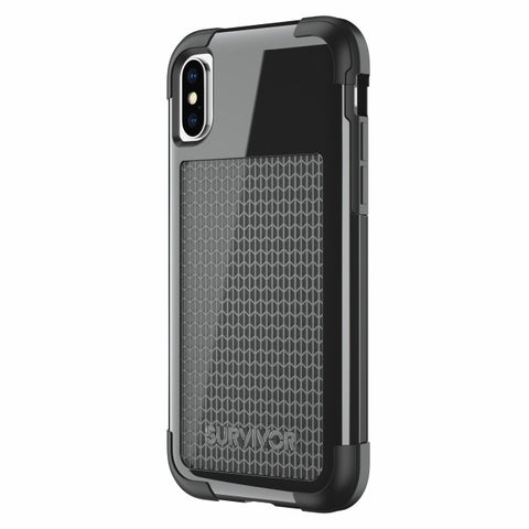 Griffin Survivor Fit for iPhone X/Xs - Black/Black