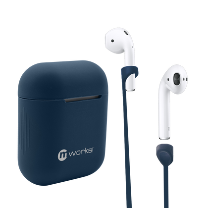 Airpod Case Skin and Straps Bundle - Blue