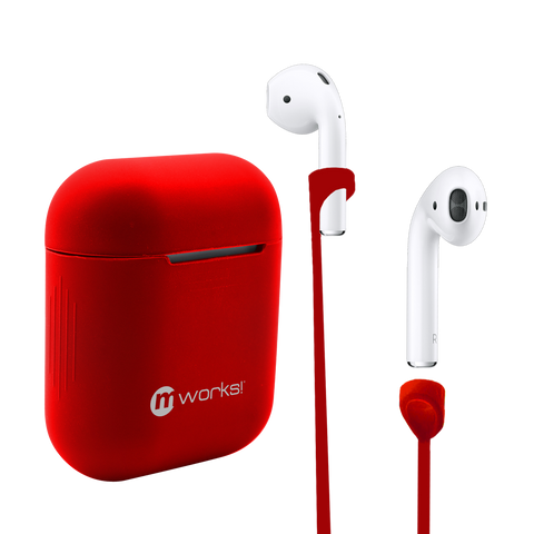 Airpod Case Skin and Straps Bundle - Red