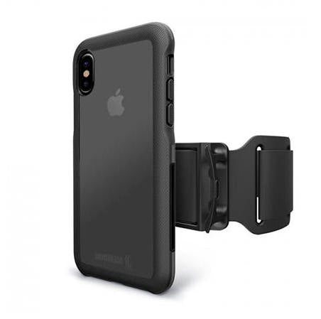 BodyGuardz Trainr Pro Case with Armband iPhone X/XS - Black/Grey