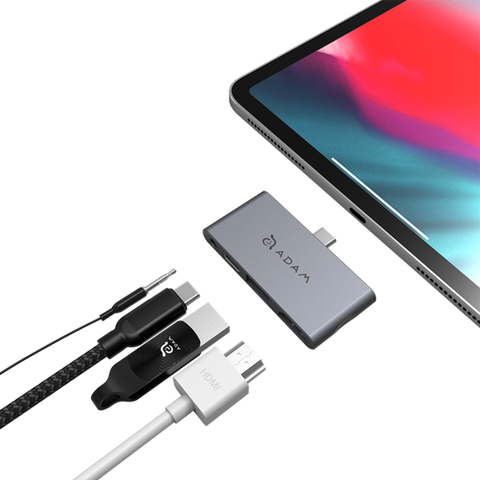 Adam Elements CASA Hub i4 USB-C 4-in-1 Hub for iPad Pro - Space Gray