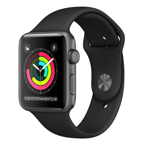 Apple Watch Series 3 GPS 42mm Gris Espacial - Correa Dep Negra