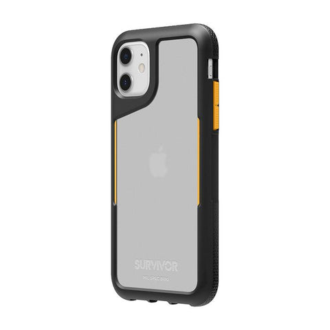Griffin Survivor Endurance Case iPhone 11 - Black/Citrus/Clear