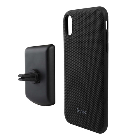 Evutec Ballistic Nylon Case w/Vent Mount for iPhone XR - Black