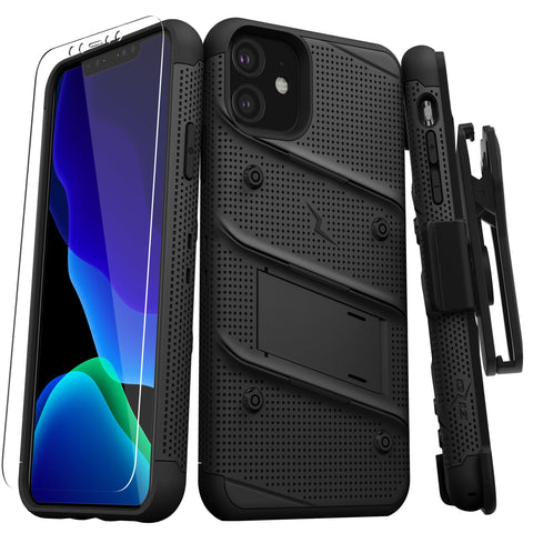 Zizo Bolt Series iPhone 11 Case & Screen Protector - Black