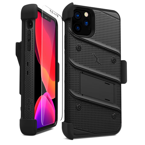 Zizo Bolt Series iPhone 11 Pro Case & Screen Protector - Black