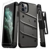 Zizo Bolt iPhone 11 Pro Max Case & Screen Protector - Grey/Black