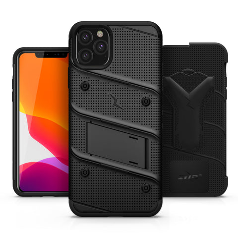 Zizo Bolt iPhone 11 Pro Max Case & Screen Protector - Black