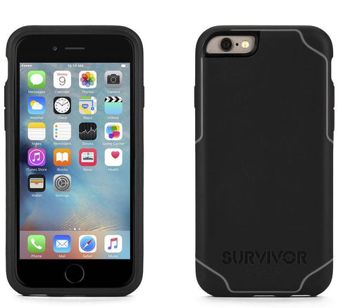 Griffin Survivor Journey Case iPhone 6/6S/7 Plus - Black/Deep Grey