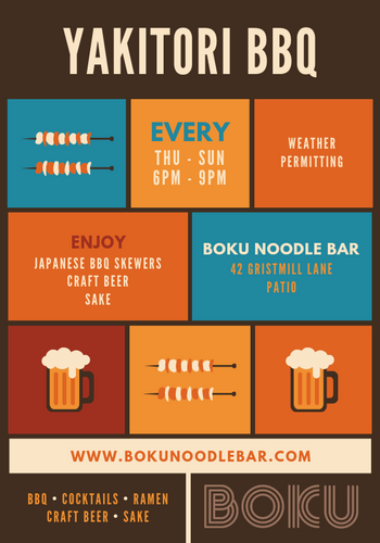 Yakitori BBQ Every Thursday Through Sunday