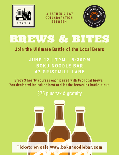 Brews & Bites: Beer Battle Pairing Dinner - June 12