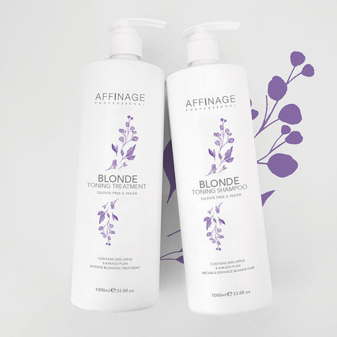 Affinage Professional Cleanse & Care Collection Blonde Toning Shampoo & Treatment