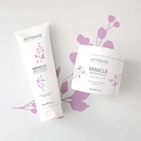 Affinage Professional Cleanse & Care Collection Miracle Repair Mask & Leave In Balm