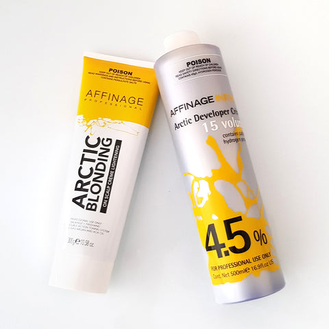 Affinage Professional Arctic Blonding Creme and 7.5% Developer