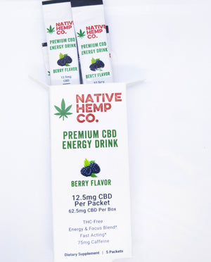 Premium Hemp Energy Drink 5 Pack
