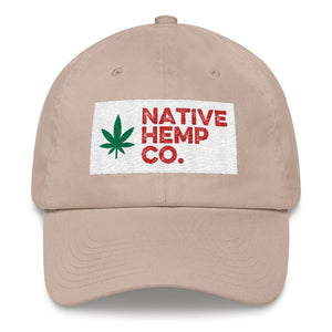 The Native Hemp Co. Box Logo Dad Hat