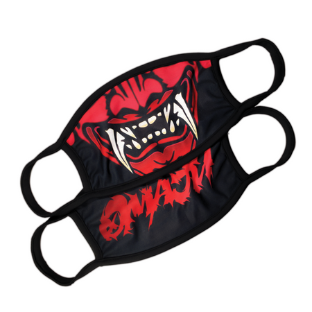 Aggression: Crimson Face Mask - Black