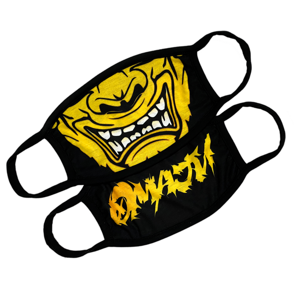 Aggression: Gold Face Mask - Black